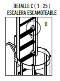 Escaleras barco esquema defrasa escamoteable